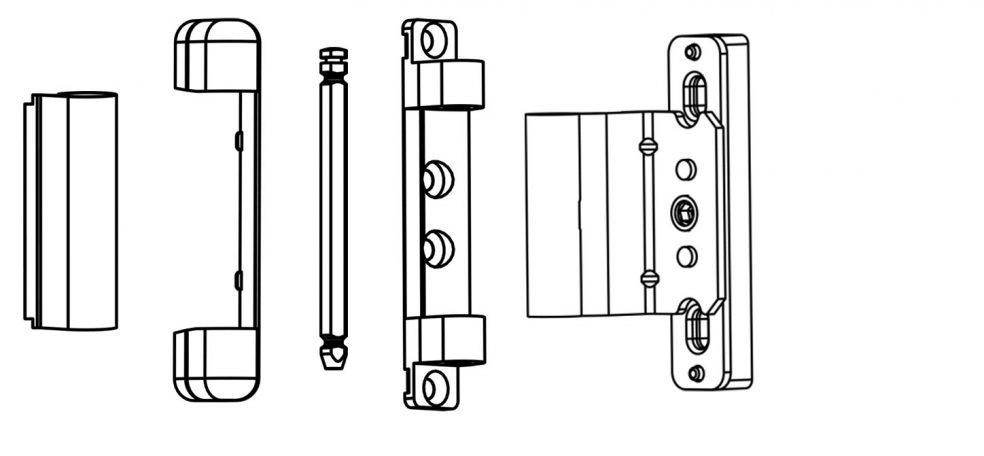 Adjustable Middle Hinge Group 2